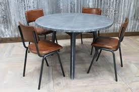 zinc top round dining table zinc top round table industrial style dining table urban