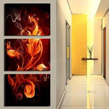 Define Sitting Room - aliexpress com buy 3 pcs fashion flower canvas print canvas