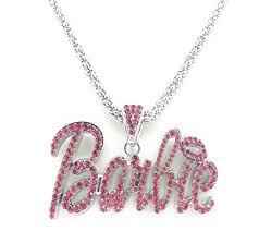pink chain necklace images Nicki minaj barbie necklace large with pink stone jpg