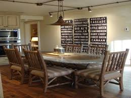 contemporary rustic dining room lighting create a warm industrial