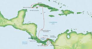 Cuban Map Canal To Cuba With Panama Costa Rica U0026 Colombia April 2018