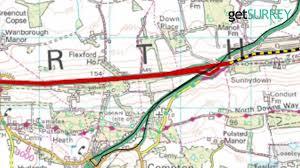 Surrey England Map by A31 Hog U0027s Back Closure What Has Surrey County Council Said So Far