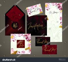 tony wedding invitation suite vector template stock vector