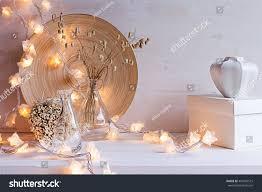 christmas home decoration burning lights on stock photo 495569515