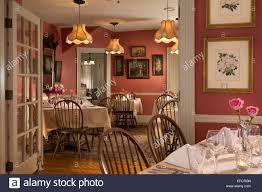 Maine Dining Room Dining Room Pentagoet Inn Castine Maine Usa Stock Photo