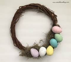 egg wreath how to make a easter egg wreath