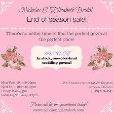 Wedding Dress Sale Wedding Dress Sales U0026 Promos Nicholas U0026 Elizabeth