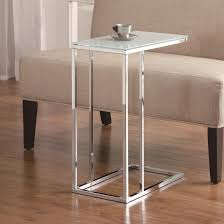 Chrome And Glass Sofa Table White Glass Snack Table Steal A Sofa Furniture Outlet Los Angeles Ca