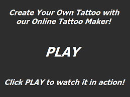 the online tattoo maker create u0026 print your own tattoo online