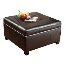 Square Brown Leather Ottoman Ottoman Coffee Table Storage Best Gallery Of Tables Furniture