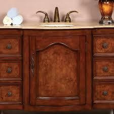 Red Bathroom Cabinets 48 U201d Perfecta Pa 163 Bathroom Vanity Single Sink Cabinet Red Oak
