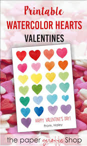 s day cards for friends the paper giraffe shop printable watercolor hearts valentines for