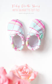 baby cloth shoes pattern with silhouette cut file one dog woof