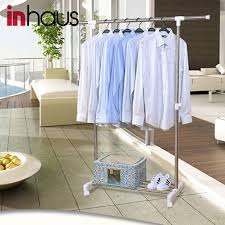 Bedroom Clothes Horse Stainless Steel Clothes Hanger Stand Stainless Steel Clothes