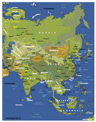 Asia Geography Map by Atlas And Maps Online Globes Maps Of The World Worldmaps