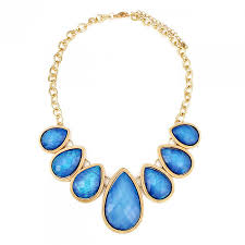 blue necklace images Pandora sky blue teardrop shimmery stone collar necklace jpg