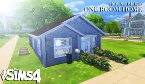 4 room house the sims 4 house build one room home