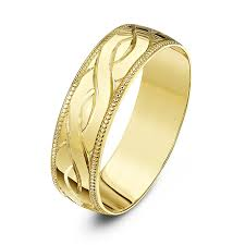 saudi gold wedding ring theia unisex heavy weight d shape celtic design 6 mm 9 ct yellow