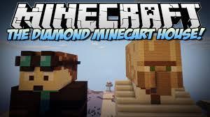 minecraft the diamond minecart u0026 trayaurus house build