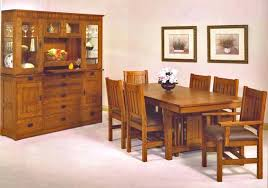 dining table mission style dining room table bench custom made