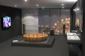 wooden bathtubs a delight for the senses and your home decor bagno sasso s circle tub is not quite like the usual soaking tub the wooden bathtub