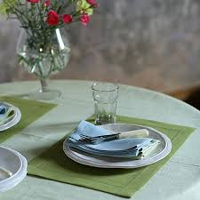 forest green table linens placemat rain forest green linen emilia table linen linenme