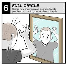 men growing hair out stages growing out your hair the 6 stages of good grief get a haircut
