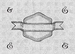 handwritten label for wedding invitation in retro style vector