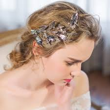 handmade tiaras aliexpress buy floristic handmade tiaras gold leaves