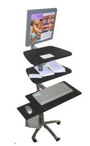 new medical height adjustable laptop desktop computer cart