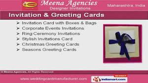 Corporate Invitation Card Design Invitation Card With Boxes And Bags By Meena Agencies Mumbai Youtube
