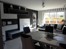 salon canapé noir idee deco salon canape noir 6 d233coration salon gris blanc noir