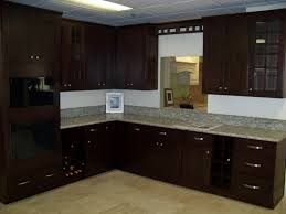 Espresso Kitchen Cabinets Cool White Granite Backsplash Also Classy Espresso Kitchen