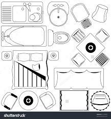 City View Boon Keng Floor Plan by Icons Simple Furniture Floor Plan Outline Royalty Free Cliparts