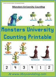 free monsters university activities printables monsters