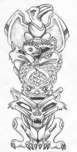 wolf indian tattoos designs the 25 best totem pole tattoo ideas on pinterest totem tattoo