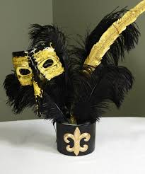 black and gold centerpieces party ideas by mardi gras outlet black gold masquerade mask