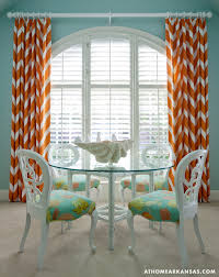 And Orange Curtains Orange Curtains Contemporary Dining Room At Home In Arkansas