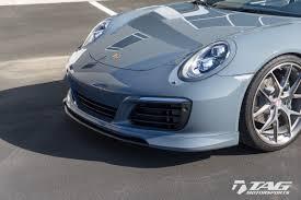 lowered porsche 911 techart headlight trim surround for 991 models