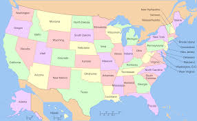 Map Of States With Capitals by Us Us Map With State Names Us Map With State Names And