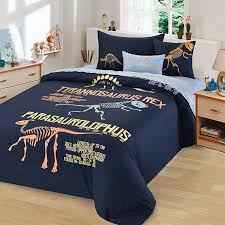 Dinosaur Bed Frame Blue Coral And Yellow Dinosaur Pattern And Monogrammed