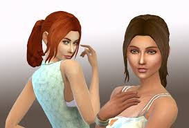 the sims 4 cc hair ponytail my sims 4 blog loose ponytail and claire v2 hair for females by