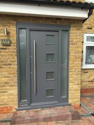 Exterior Doors Fitted Front Door With Glazed Panels Constructed And Fitted On