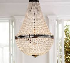 Large Chandelier Faceted Large Chandelier Pottery Barn