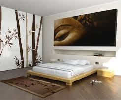 chambre en bambou chambre lit bois clair déco bambou bouddha chambre adulte