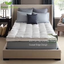 luxury bed mattress topper down on top featherbeds 550 white