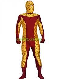 Goldust Halloween Costume Shocker Costume Printed Spandex Lycra Zentai Suit Mesh Eyes Jpg