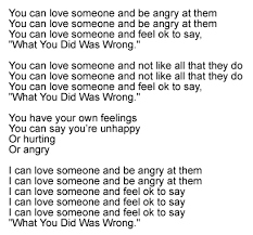 saying what you did was wrong song lyrics and sound clip