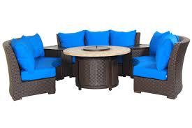 Blue Sofa Set Bermuda 6 Piece Circular Sofa Set Bddsgcs Patio Productions