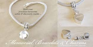 jewelry to hold ashes memorial bracelets charms and cremation